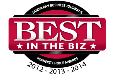 Top 10 of Tampa Bay Business Journal's Best in the Biz Reader's Choice Awards